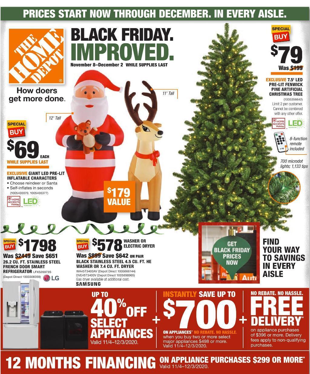 Home Depot Black Friday 2020 Ad