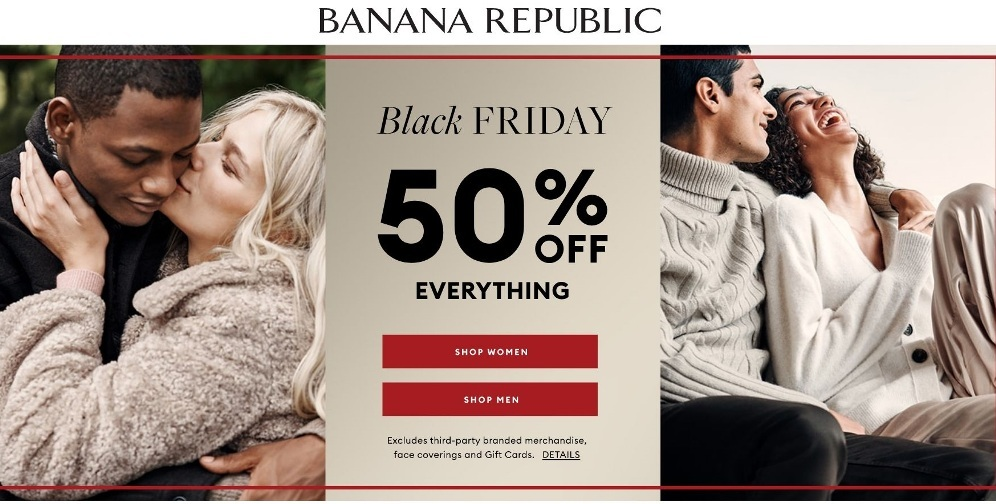Banana Republic Black Friday 2020 Ad