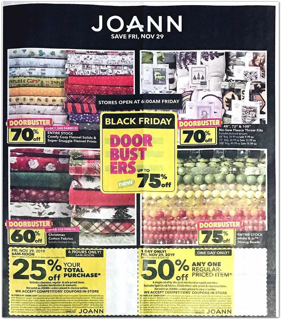 JOANN Black Friday 2020 Ad