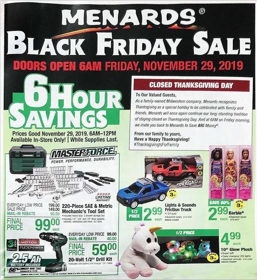 Menards Black Friday 2020 Ad