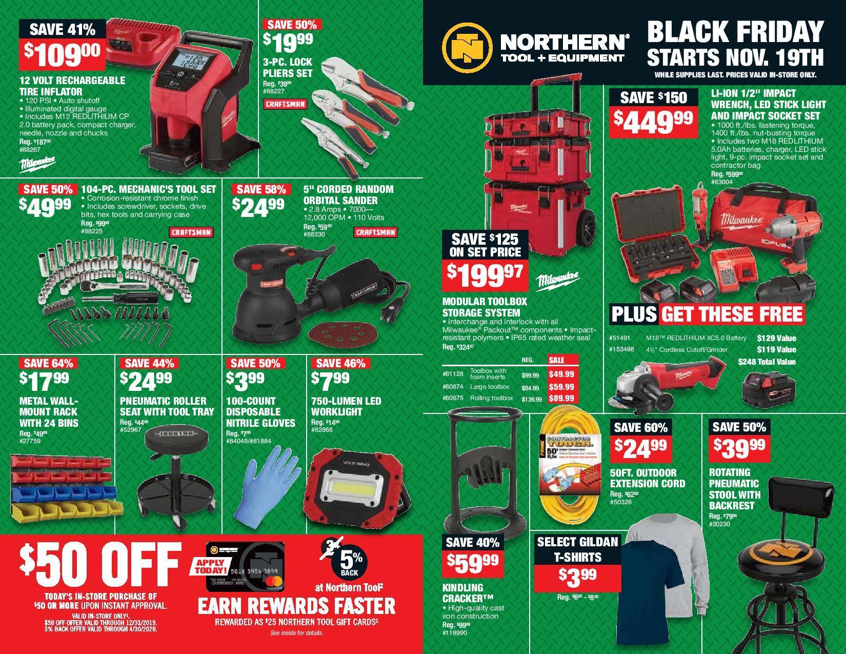 Northern Tool Black Friday 2020 Ad