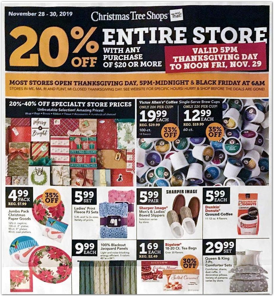 Christmas Tree Shops Black Friday 2020 Ad
