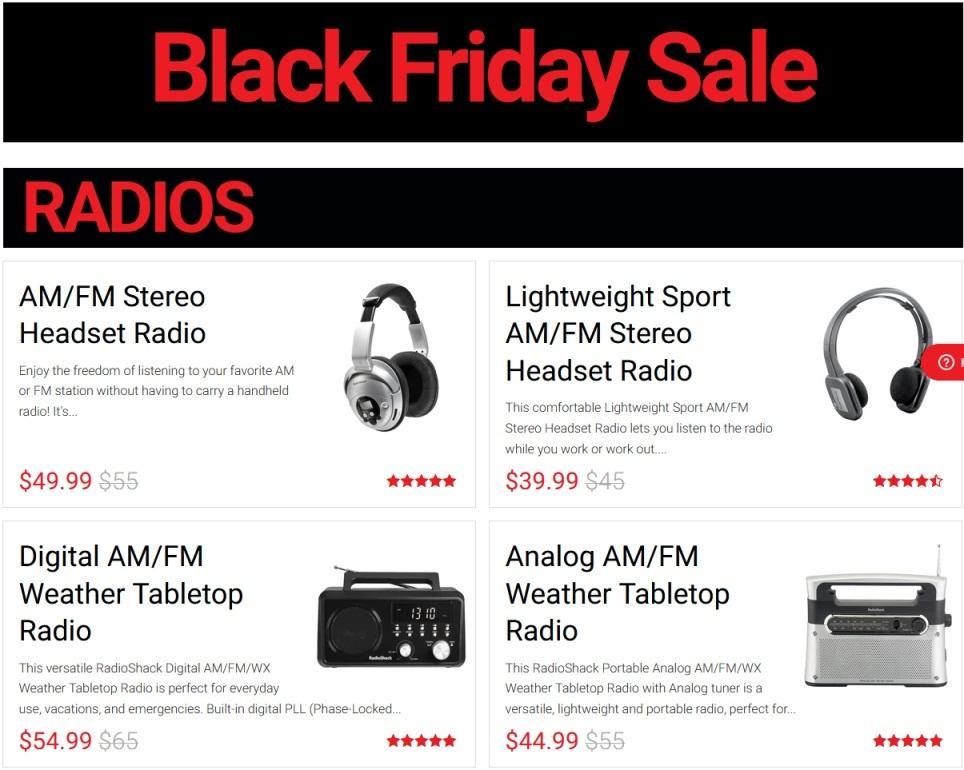 RadioShack Black Friday 2020 Ad