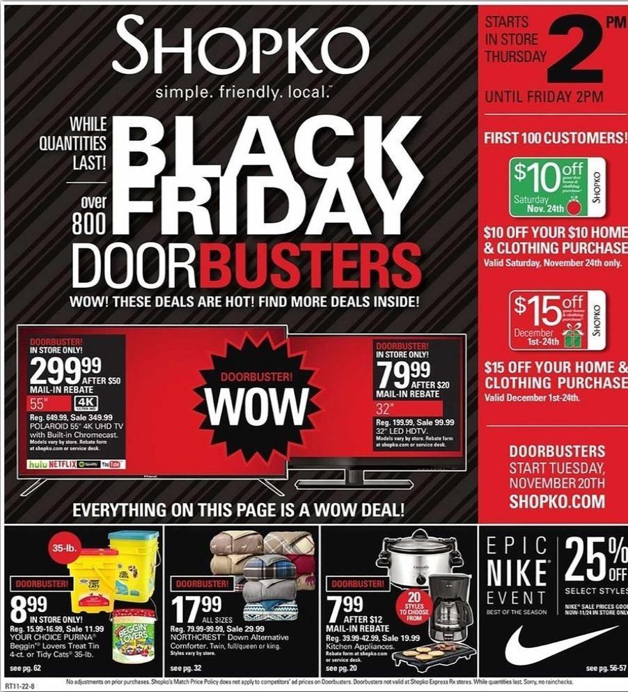 Shopko Black Friday 2020 Ad