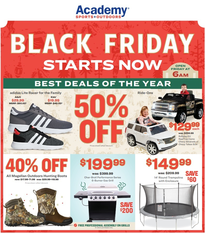 Academy Sports + Outdoors Black Friday 2020 Ad