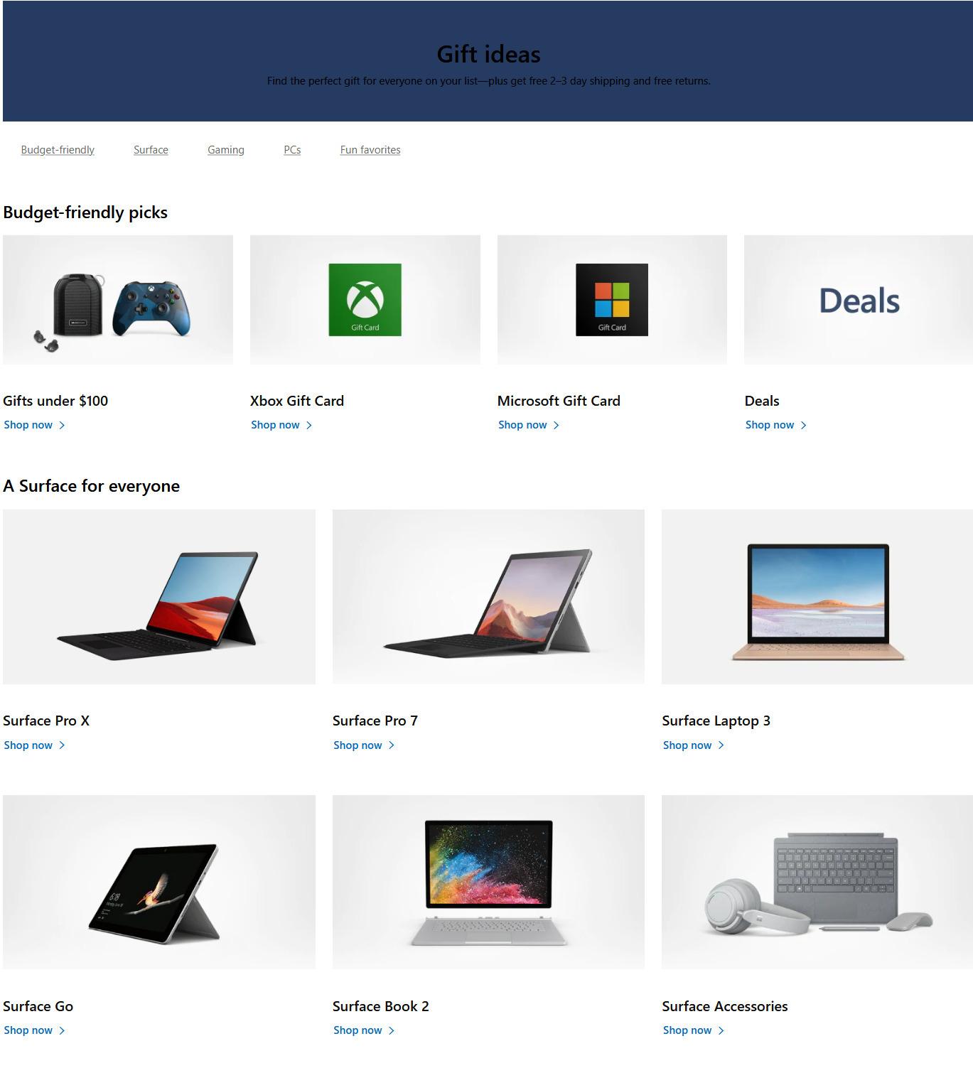 Microsoft Store Black Friday 2020 Ad