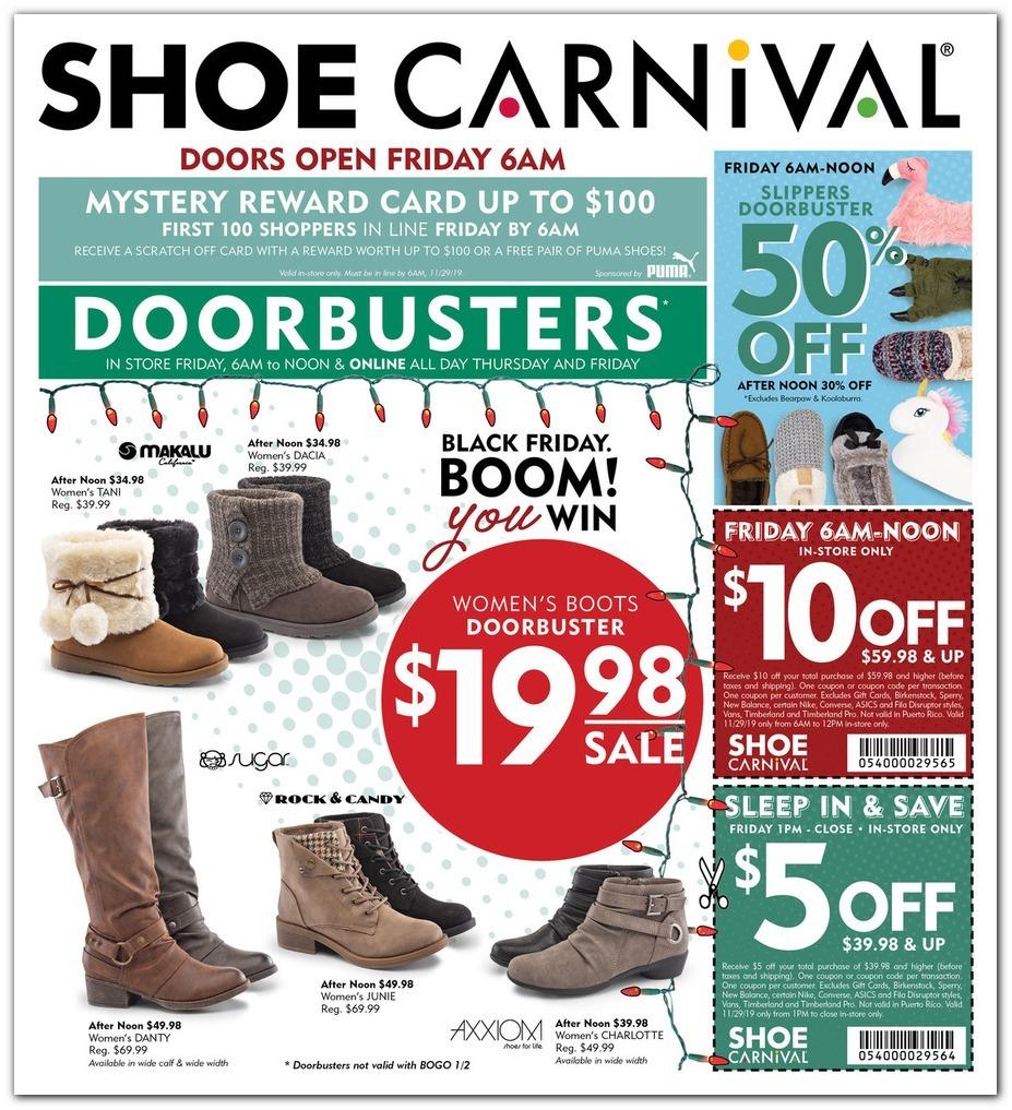 Shoe Carnival Black Friday 2020 Ad