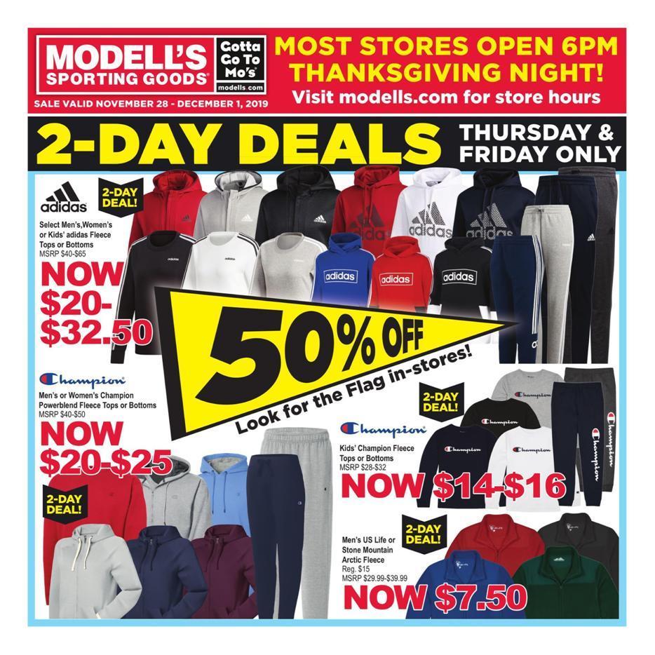 Modell's Black Friday 2020 Ad