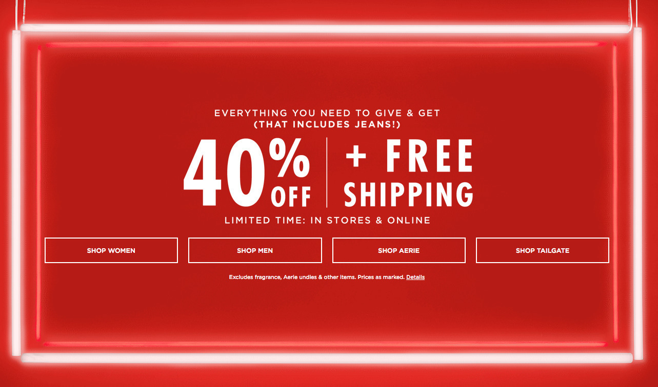 American Eagle Outfitters Black Friday 2020 Ad