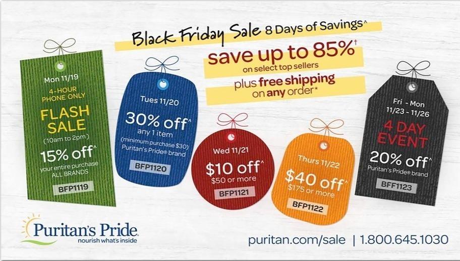 Puritan's Pride Black Friday 2020 Ad
