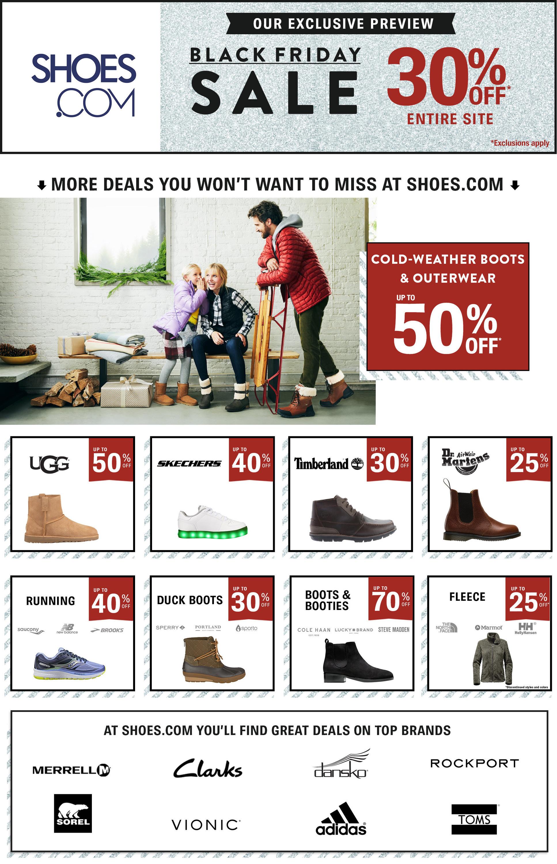 Shoes.com Black Friday 2020 Ad