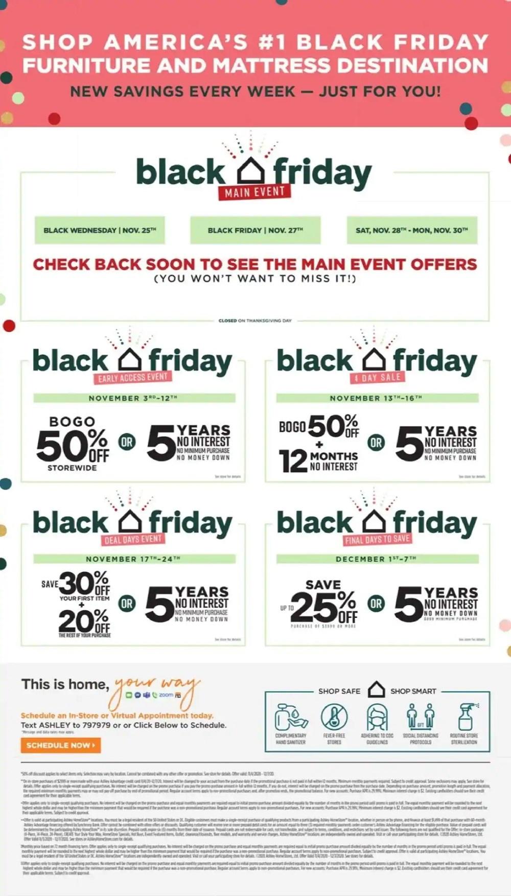 Ashley Homestore Black Friday 2020 Ad