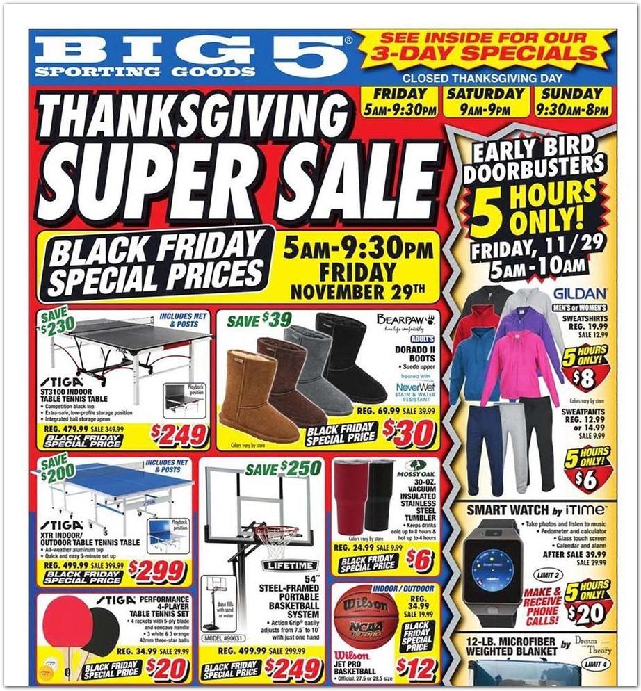 Big 5 Sporting Goods Black Friday 2020 Ad