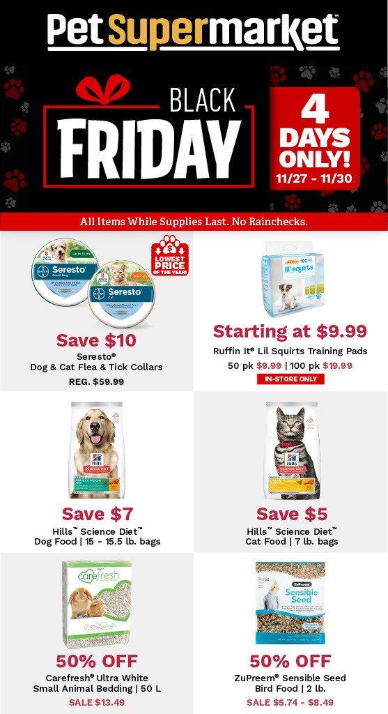 Pet Supermarket Black Friday 2020 Ad