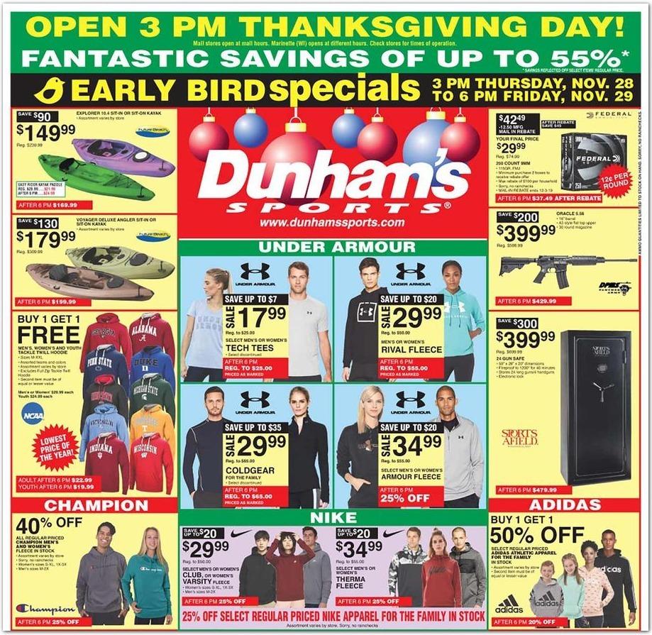 Dunham's Sports Black Friday 2020 Ad