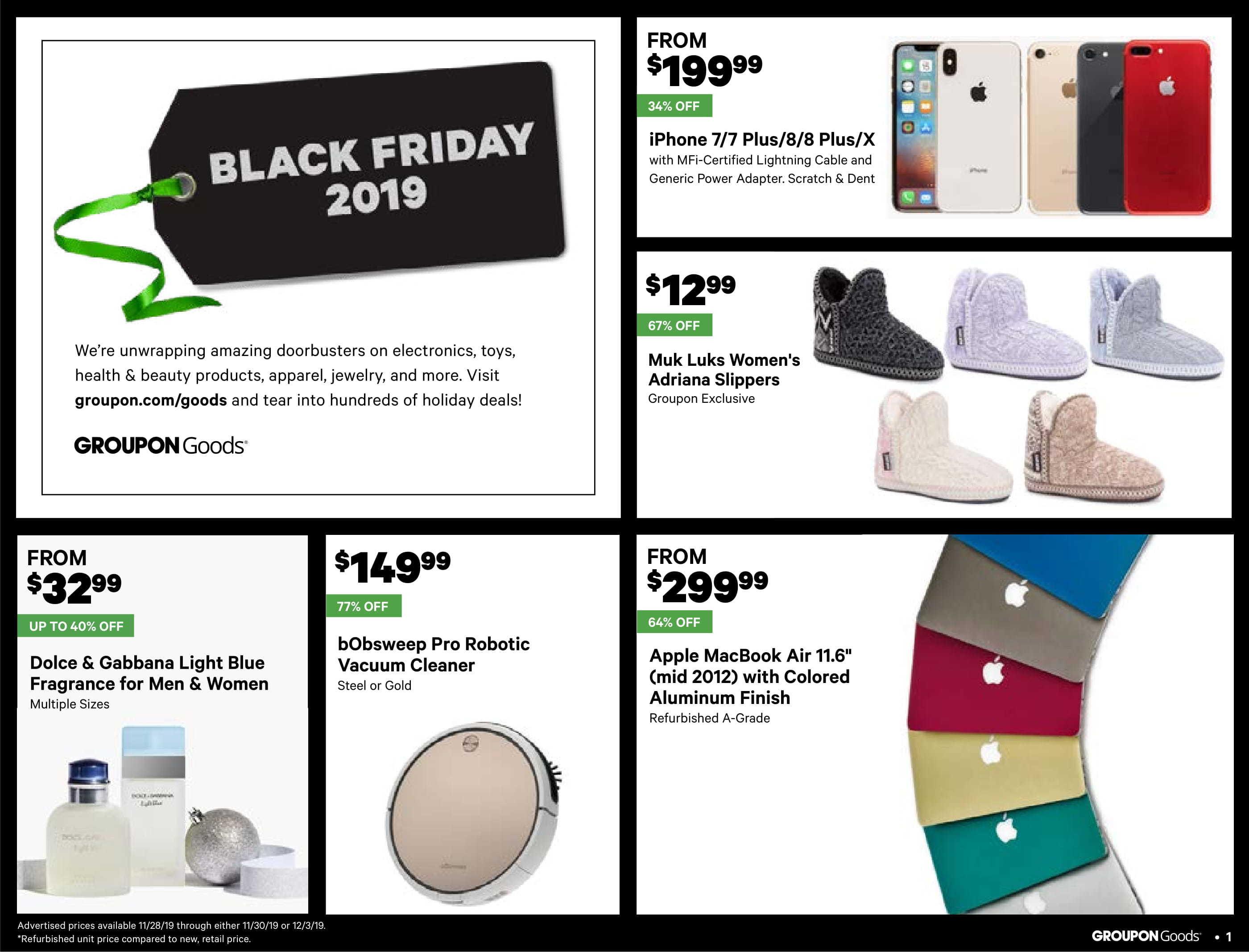 Groupon Black Friday 2020 Ad