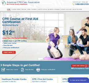 American CPR Care Association Cashback