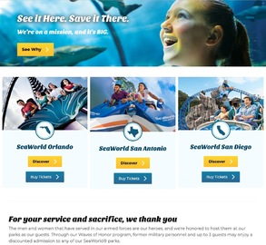 SeaWorld Orlando Tickets Sale Any Combination of 2 Parks