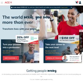 American Council on Exercise | 美国运动协会 返利