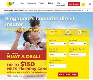Direct Asia Insurance 캐시백