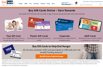 GiftCards.com キャッシュバック