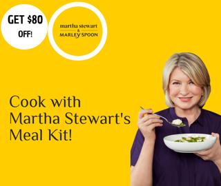 Martha Stewart and Marley Spoon Cashback